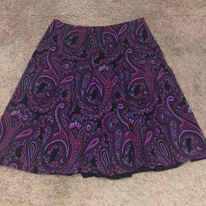 DKNY Paisley Mini Skirt
